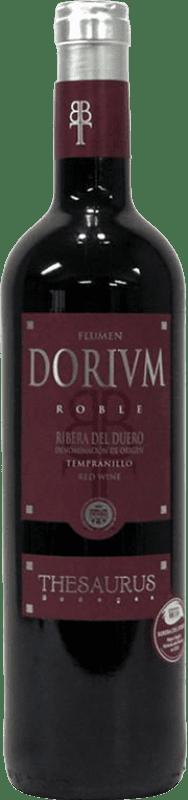 8,95 € | 红酒 Thesaurus Flumen Dorium 6 Meses Crianza D.O. Ribera del Duero 卡斯蒂利亚莱昂 西班牙 Tempranillo 瓶子 75 cl
