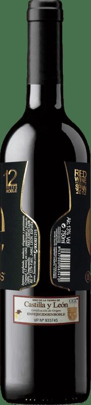 Vinho tinto Esencias «é» 12 Meses Crianza 2012 I.G.P. Vino de la Tierra de Castilla y León Castela e Leão Espanha Tempranillo Garrafa 75 cl