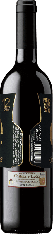 Vino tinto Esencias «é» 12 Meses Crianza 2012 I.G.P. Vino de la Tierra de Castilla y León Castilla y León España Tempranillo Botella 75 cl