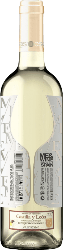Бесплатная доставка | Белое вино Esencias ME&White I.G.P. Vino de la Tierra de Castilla y León Испания Verdejo бутылка 75 cl