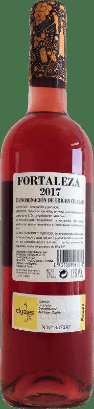 7,95 € Envio grátis | Vinho rosé Thesaurus Fortaleza de Trigueros Joven D.O. Cigales Castela e Leão Espanha Tempranillo Garrafa 75 cl