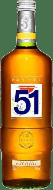 18,95 € Free Shipping | Pastis Pernod Ricard 51 Missile Bottle 1 L