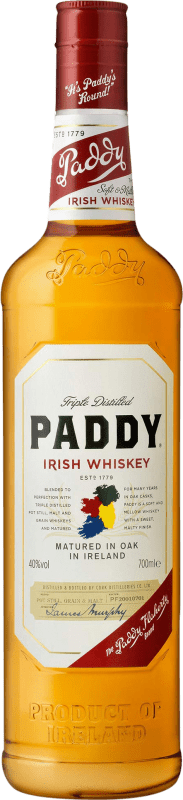 19,95 € Free Shipping | Whisky Blended Paddy Irish Whiskey Old Bottle 70 cl