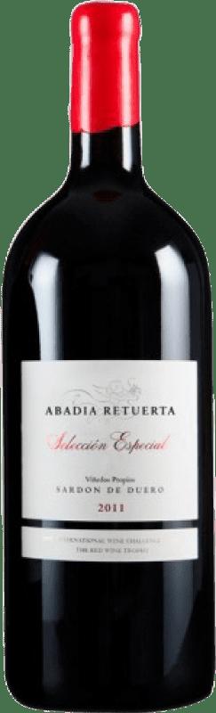 929,95 € Free Shipping   Red wine Abadía Retuerta Selección Especial I.G.P. Vino de la Tierra de Castilla y León Castilla y León Spain Tempranillo, Syrah, Cabernet Sauvignon Botella Melchor 18 L