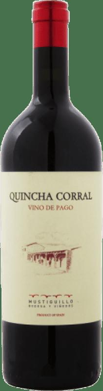 167,95 € Free Shipping | Red wine Mustiguillo Quincha Corral D.O.P. Vino de Pago El Terrerazo Spain Bobal Magnum Bottle 1,5 L
