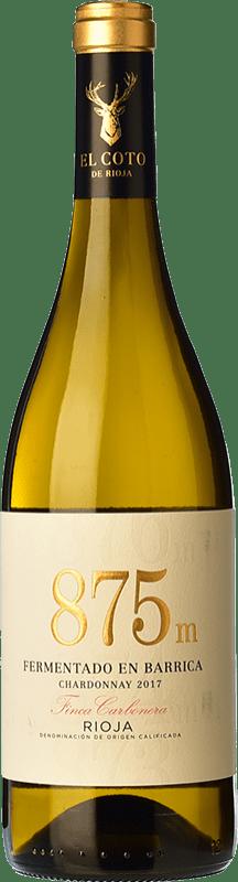 10,95 € Free Shipping | White wine Coto de Rioja 875 Fermentado en Barrica D.O.Ca. Rioja The Rioja Spain Chardonnay Bottle 75 cl