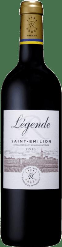 25,95 € Free Shipping   Red wine Barons de Rothschild Légende A.O.C. Saint-Émilion Bordeaux France Merlot, Cabernet Franc Bottle 75 cl