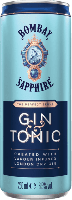 38,95 € Free Shipping   12 units box Soft Drinks & Mixers Bombay Sapphire Gin & Tonic Lata 25 cl
