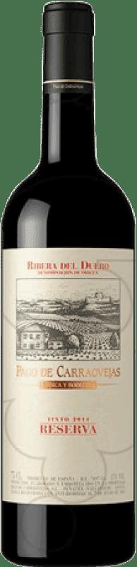 102,95 € Envío gratis | Vino tinto Pago de Carraovejas Reserva D.O. Ribera del Duero Castilla y León España Botella Mágnum 1,5 L