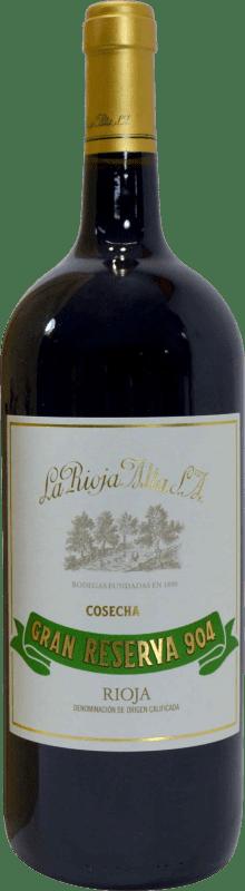 102,95 € Envío gratis   Vino tinto Rioja Alta 904 Gran Reserva D.O.Ca. Rioja La Rioja España Botella Mágnum 1,5 L