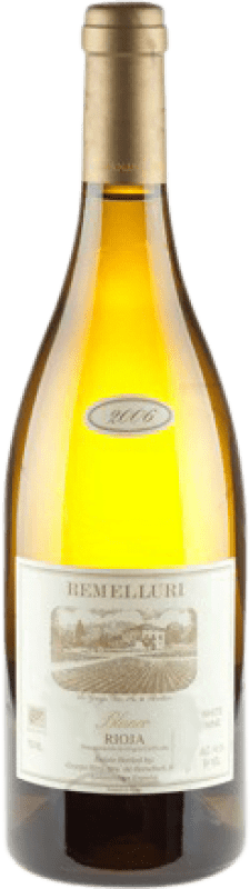 143,95 € Envío gratis | Vino blanco Ntra. Sra de Remelluri Crianza D.O.Ca. Rioja La Rioja España Garnacha Blanca, Roussanne, Moscatel, Viognier, Chardonnay, Sauvignon Blanca, Marsanne Botella Mágnum 1,5 L