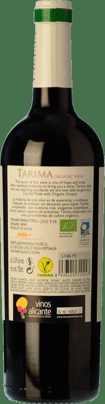5,95 € Free Shipping | Red wine Volver Tarima Orgánico Joven D.O. Alicante Levante Spain Monastrell Bottle 75 cl