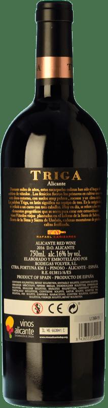 29,95 € Free Shipping | Red wine Volver Triga Crianza D.O. Alicante Levante Spain Monastrell Bottle 75 cl