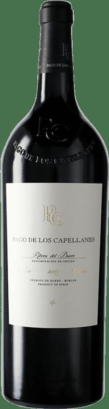 62,95 € Free Shipping | Red wine Pago de los Capellanes Reserva D.O. Ribera del Duero Castilla y León Spain Tempranillo, Cabernet Sauvignon Magnum Bottle 1,5 L