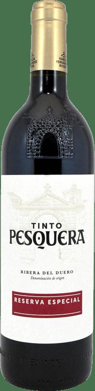 32,95 € Envoi gratuit | Vin rouge Pesquera Especial Reserva D.O. Ribera del Duero Castille et Leon Espagne Tempranillo Bouteille 75 cl