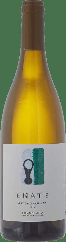 11,95 € Envío gratis | Vino blanco Enate Joven D.O. Somontano Aragón España Gewürztraminer Botella 75 cl