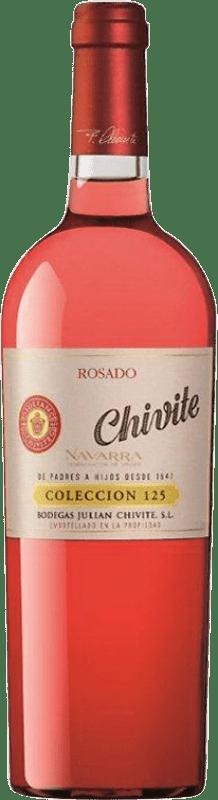 23,95 € Envío gratis | Vino rosado Chivite Colección 125 Joven D.O. Navarra Navarra España Tempranillo, Garnacha Botella 75 cl