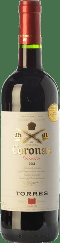 6,95 € 免费送货 | 红酒 Torres Coronas Crianza D.O. Catalunya 加泰罗尼亚 西班牙 Tempranillo, Cabernet Sauvignon 瓶子 75 cl