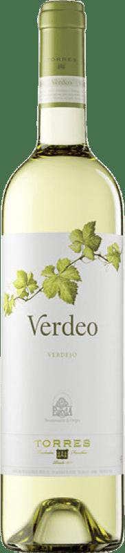 6,95 € | Vino blanco Torres Verdeo Joven D.O. Rueda Castilla y León España Verdejo Botella 75 cl