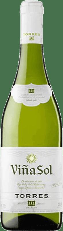6,95 € | White wine Torres Viña Sol Dry Joven D.O. Catalunya Catalonia Spain Parellada Bottle 75 cl