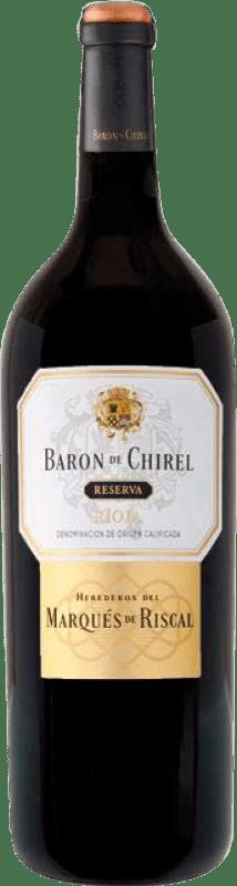 129,95 € Envoi gratuit   Vin rouge Marqués de Riscal Barón de Chirel Reserva 2005 D.O.Ca. Rioja La Rioja Espagne Tempranillo Bouteille Magnum 1,5 L