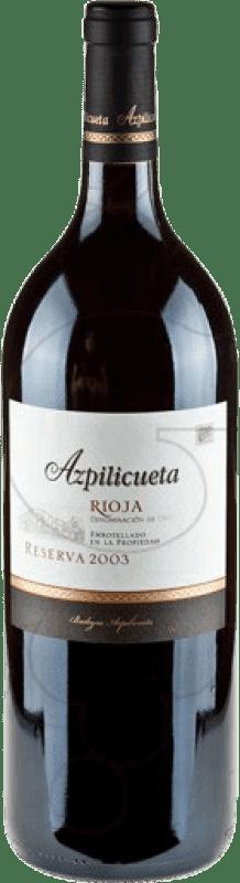 24,95 € | Red wine Campo Viejo Azpilicueta Reserva D.O.Ca. Rioja The Rioja Spain Tempranillo, Graciano, Mazuelo, Carignan Magnum Bottle 1,5 L