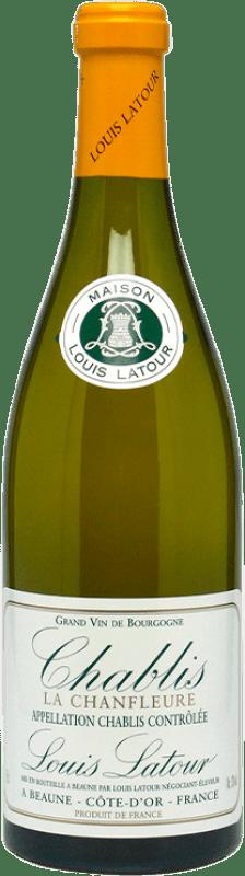 24,95 € Envío gratis | Vino blanco Louis Latour Chanfleure Crianza A.O.C. Chablis Francia Chardonnay Botella 75 cl