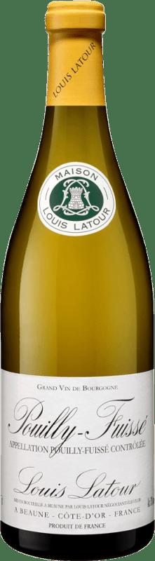 29,95 € 免费送货 | 白酒 Louis Latour Crianza A.O.C. Pouilly-Fuissé 法国 Chardonnay 瓶子 75 cl