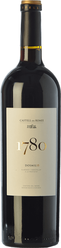 21,95 € | Red wine Castell del Remei N.1780 Reserva D.O. Costers del Segre Catalonia Spain Tempranillo, Grenache, Cabernet Sauvignon Bottle 75 cl