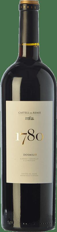 21,95 € Envío gratis | Vino tinto Castell del Remei N.1780 Reserva D.O. Costers del Segre Cataluña España Tempranillo, Garnacha, Cabernet Sauvignon Botella 75 cl