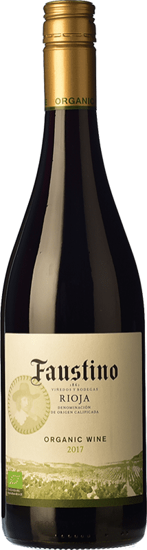 6,95 € | Red wine Faustino Organic Joven D.O.Ca. Rioja The Rioja Spain Tempranillo Bottle 75 cl