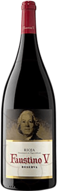 21,95 € | Red wine Faustino V Reserva D.O.Ca. Rioja The Rioja Spain Tempranillo, Mazuelo, Carignan Magnum Bottle 1,5 L