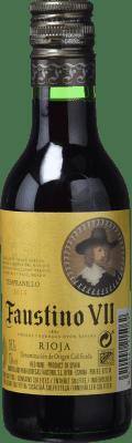 1,95 € Spedizione Gratuita | Vino rosato Faustino VII Joven D.O.Ca. Rioja La Rioja Spagna Tempranillo, Grenache Botellin 18 cl