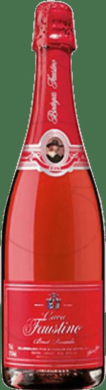 7,95 € Envío gratis | Espumoso rosado Faustino Rosse Brut Joven D.O. Cava Cataluña España Garnacha Botella 75 cl