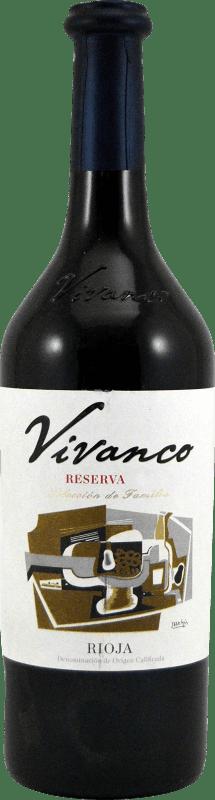 13,95 € Envío gratis | Vino tinto Vivanco Dinastía Reserva D.O.Ca. Rioja La Rioja España Tempranillo, Graciano Botella 75 cl