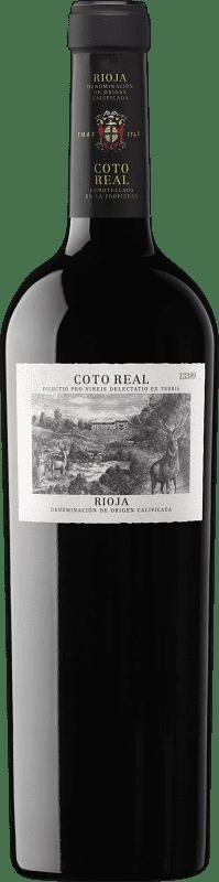17,95 € Envío gratis | Vino tinto Coto de Rioja Coto Real Reserva D.O.Ca. Rioja La Rioja España Tempranillo, Garnacha, Graciano, Mazuelo, Cariñena Botella 75 cl