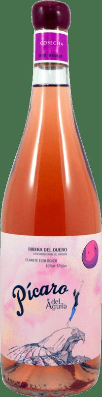23,95 € Envío gratis | Vino rosado Dominio del Águila Pícaro Crianza D.O. Ribera del Duero Castilla y León España Tempranillo, Garnacha, Bobal Botella 75 cl