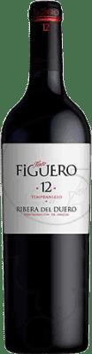 11,95 € Envío gratis | Vino tinto Figuero 12 meses Crianza D.O. Ribera del Duero Castilla y León España Tempranillo Media Botella 50 cl