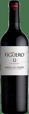 9,95 € Envío gratis | Vino tinto Figuero 12 meses Crianza D.O. Ribera del Duero Castilla y León España Tempranillo Media Botella 37 cl