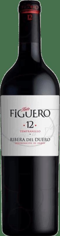 75,95 € Envío gratis | Vino tinto Figuero 12 meses Crianza D.O. Ribera del Duero Castilla y León España Tempranillo Botella Jéroboam-Doble Mágnum 3 L