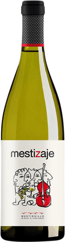 9,95 € 免费送货 | 白酒 Mustiguillo Mestizaje Joven Levante 西班牙 Malvasía, Viognier, Merseguera 瓶子 75 cl