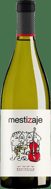 9,95 € Envoi gratuit | Vin blanc Mustiguillo Mestizaje Joven Levante Espagne Malvasía, Viognier, Merseguera Bouteille 75 cl