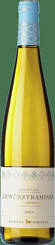 11,95 € Envío gratis | Vino blanco Pirineos Joven D.O. Somontano Aragón España Gewürztraminer Botella 75 cl
