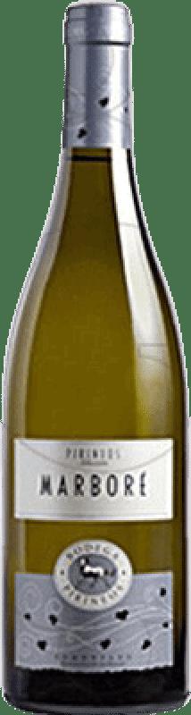 17,95 € Envío gratis | Vino blanco Pirineos Marbore Crianza D.O. Somontano Aragón España Botella 75 cl