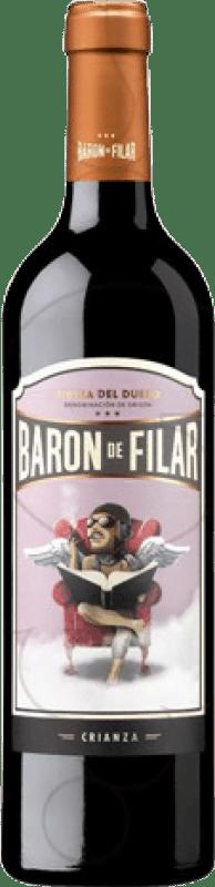 19,95 € Envío gratis | Vino tinto Peñafiel Barón de Filar Crianza D.O. Ribera del Duero Castilla y León España Tempranillo, Merlot, Cabernet Sauvignon Botella Mágnum 1,5 L