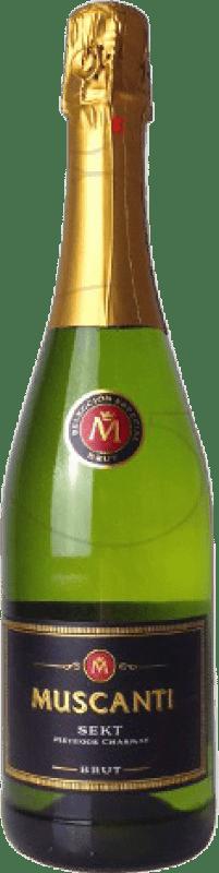 3,95 € | White sparkling Perelada Muscanti Brut Joven Catalonia Spain Macabeo, Xarel·lo, Parellada Bottle 75 cl