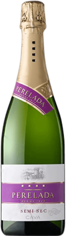 5,95 € Envío gratis | Espumoso blanco Perelada Semi Seco D.O. Cava Cataluña España Macabeo, Xarel·lo, Parellada Botella 75 cl