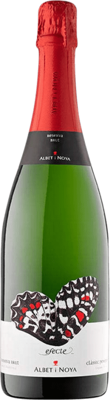 11,95 € 免费送货 | 白起泡酒 Albet i Noya Efecte 香槟 Reserva D.O. Cava 加泰罗尼亚 西班牙 Macabeo, Xarel·lo, Chardonnay, Parellada 瓶子 75 cl