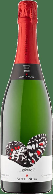 11,95 € Envío gratis | Espumoso blanco Albet i Noya Efecte Brut Reserva D.O. Cava Cataluña España Macabeo, Xarel·lo, Chardonnay, Parellada Botella 75 cl