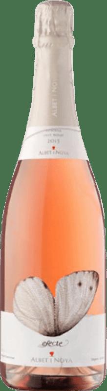 12,95 € Free Shipping | Rosé sparkling Albet i Noya Efecte Rosat Brut Joven D.O. Penedès Catalonia Spain Pinot Black Bottle 75 cl